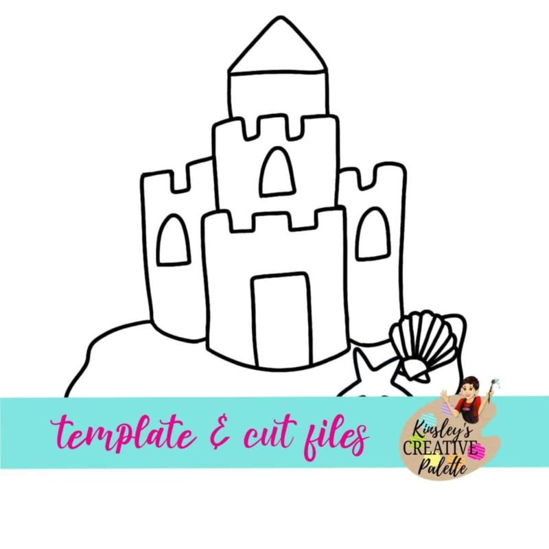 Sandcastle Door Hanger Template