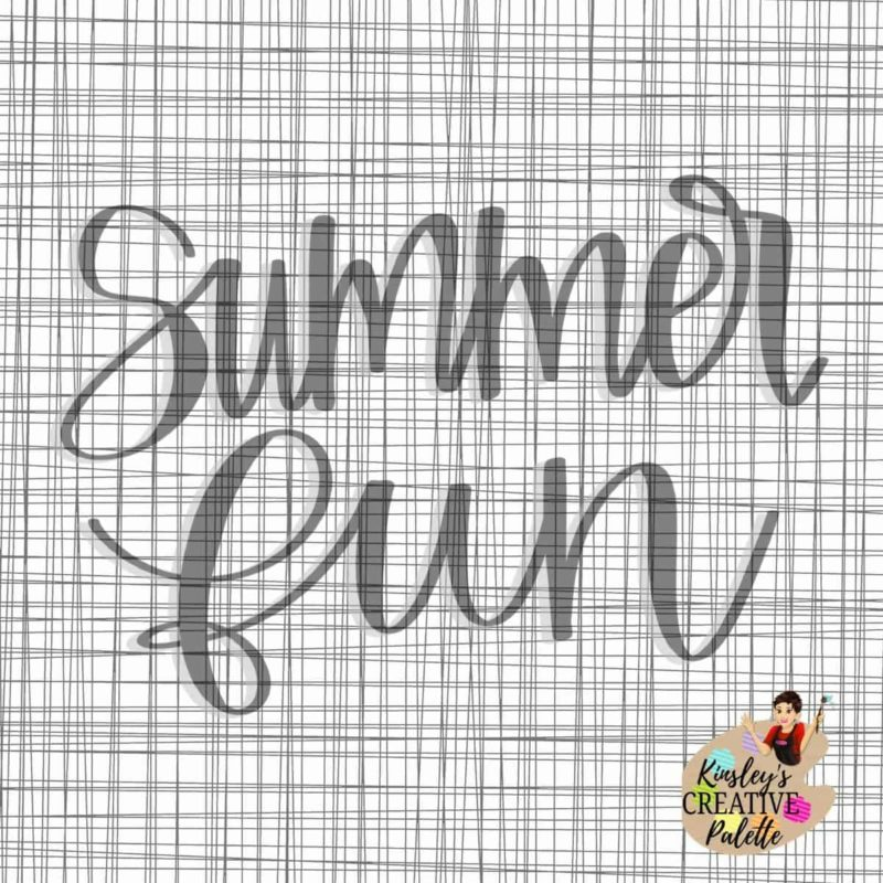 Summer fun lettering template