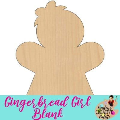 Gingerbread Girl Door Hanger Blank