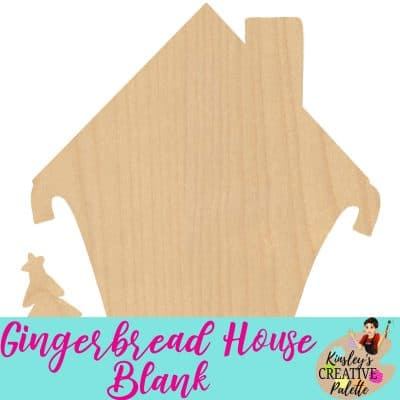 Gingerbread House Door Hanger Template