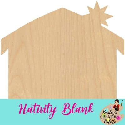 Christmas Nativity Door Hanger Blank