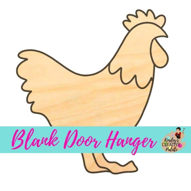 Chicken Door Hanger Template